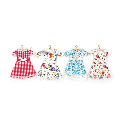 pzptyu-wei 1:12 Maßstab Puppenhaus Miniatur Kleid Prinzessin Kostüm Puppenhaus Zubehör Wohnzimmer Wohnkultur (Puppenhaus Kostüm)
