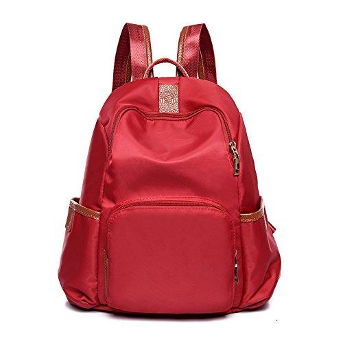 Meoaeo Die Neuen Double Bag All-Match Bags Große Mode Tasche gules