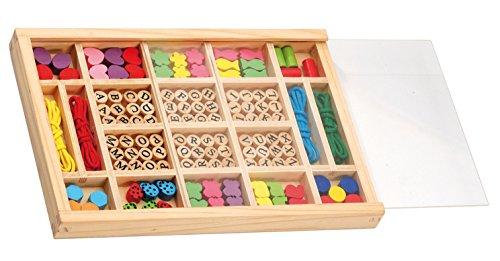 Holzperlen 72 Buchstaben