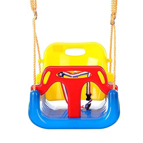 Belukies 3-in-1 Kinderschaukel Baby Garten Schaukel Indoor Outdoor Spielzeug Für Kleinkinder, Kinder Und Jugendliche Abnehmbare Aufhängende Sitz Outdoor (Pink)