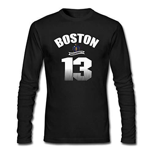 Men's Massachusetts of Flag Basketball Game Boston 13 T-Shirt -