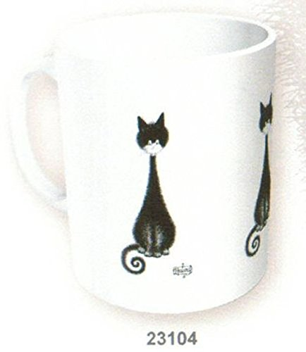 MUG CERAMIQUE LES CHATS PAR DUBOUT CHAT QUEUE EN SPIRALE