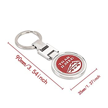 Keyring , Metal Trail Rate 4x4 Souvenirs Keychain 3d Badge Logo (Rot) 1