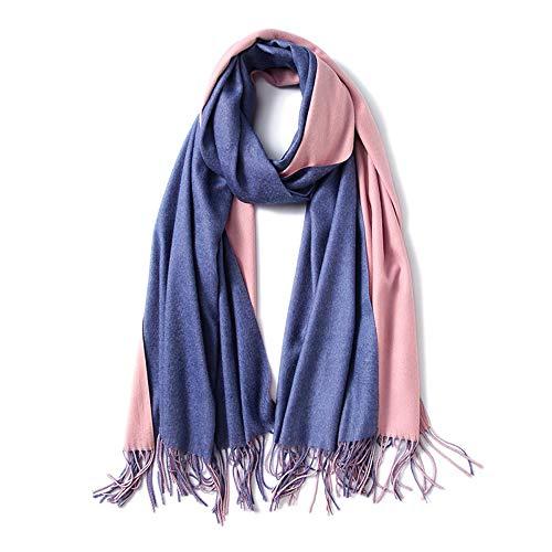 YUNSW Doppelseitiger Einfarbiger Kaschmirschal Mode Vielseitig Warmer