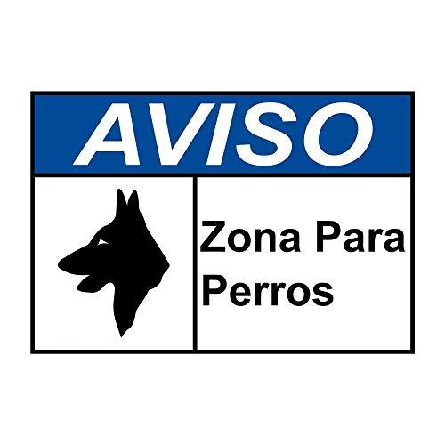 VinMea Notice Zona para Perros ANSI Safety 8x12 Blechschilder Straßenschild Outdoor Deko Vorsicht Schilder Deko Schilder