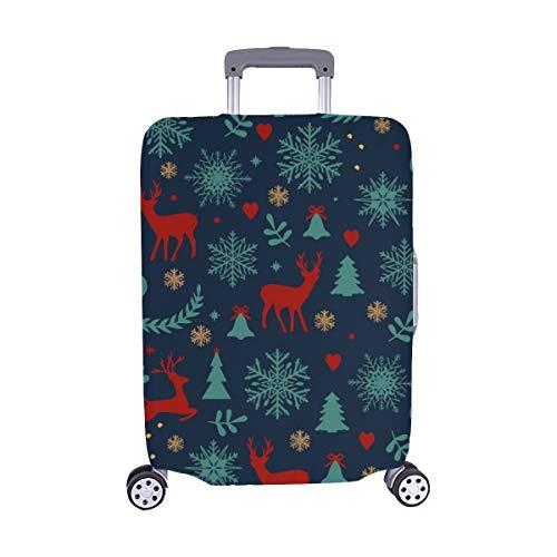 Christmas lückenlosen Muster Rentiere fir filialen bestand Illustration Muster Spandex Trolley Fall reisegepäck auf 28,5 x 20,5 cm beschützer Koffer