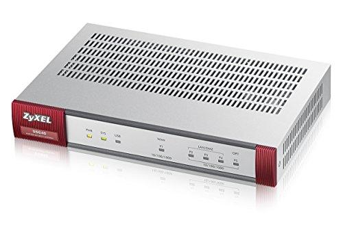 Zyxel ZyWALL 400 Mbit/s UTM-Firewall, empfohlen für bis zu 25 Benutzer (IPsec, SSL) – inkl. 1 Jahr gebündelte UTM-Dienste [USG40]