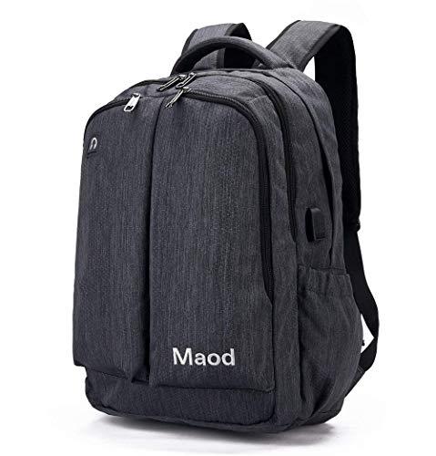 JIAOO Business Rucksack, Reise Laptop Backpack, 15.6 Zoll Laptop Tasche, Daypack und Tagesrucksack für Männer und Frauen Wasserabweisend Grau-24 Liter Thermische Usb-kamera
