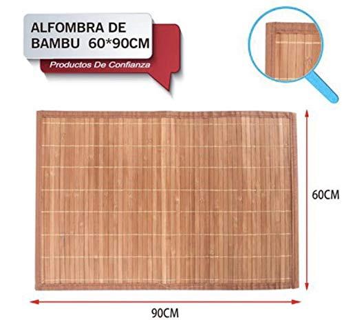 LEYENDAS Alfombra Antideslizante de Bambu,Alfombrilla de baño,Pas
