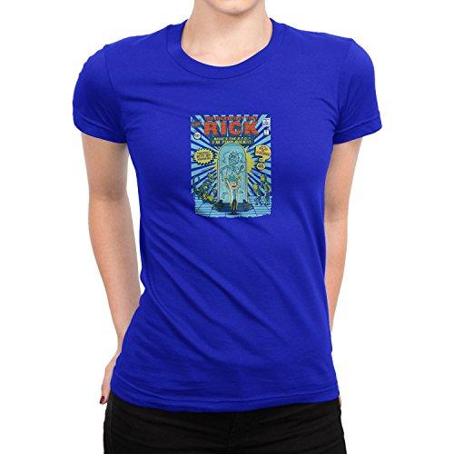 Planet Nerd - Incredible Tiny Rick - Damen T-Shirt, Größe S, blau