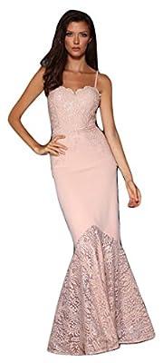 Elle Zeitoune Womens Lace Corset Pink Ball Gown Size UK 10