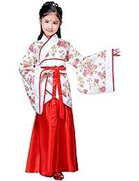 94903910dfee Xinvivion Stile Cinese Hanfu Vestito - Antico Tradizionale Abbigliamento  Elegante Retro Tuta Tang Costume da Prestazione