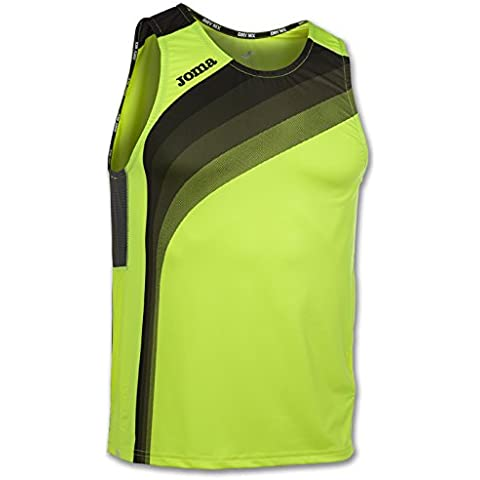 Joma - Camiseta elite v amarillo fluor s/m para hombre