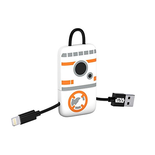 Tribe Star Wars - Cable USB Lightning para iPhone (Apple MFi Certificado), 22 cm, Diseño BB8