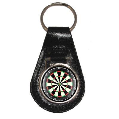 Preisvergleich Produktbild Schlüsselanhänger aus leder mit Dart Board Design