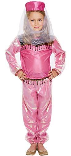 Fancy Me Mädchen Rosa Bollywood Bauchtänzerin Schauspielerin Indian Arabisch International Prinzessin Jasmin Büchertag Kostüm Kleid Outfit 4-12 Jahre - Rosa, Rosa, 7-9 Years (Indian Rosa Prinzessin Kostüm)