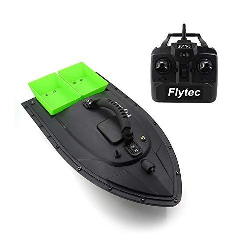 Wokee RC Boot Speed Fernbedienung Boot,Fisch Finder,ABS,2,4 GHz Fernbedienung Fischköder Boot 500m 1.5kg Laden,500 × 270 × 200 mm,Schwarz/Grün (Grün)
