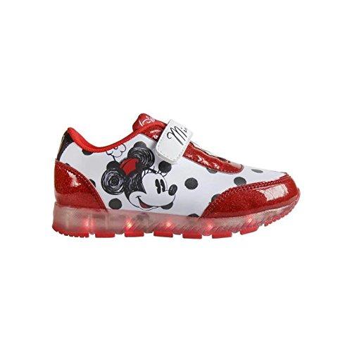 Disney Minnie 2200-2645 Chaussons Sneaker Mixte Enfant, Baskets Mode, Led, Multicolore