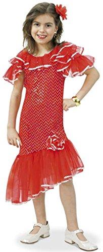 Kostüm Spanierin, Zigeunerin, Gipsy - 1tlg. Kleid für Karneval Fasching (Gipsy Zubehör Kostüm)