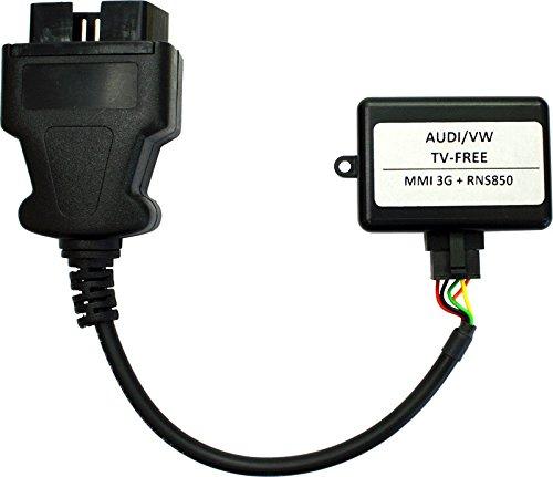 Caraudio-Systems TF-MMI3G Video Freischaltung passend für Audi mit Navigationssystem MMI3G MMI3G+ (4G) und VW RNS850 schwarz