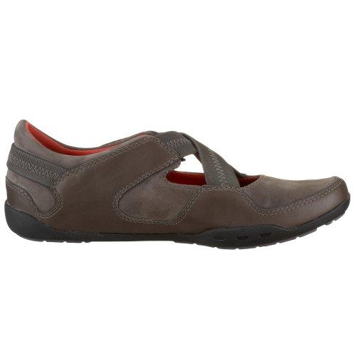 Clarks smeriglio Jazz 2032, Sneaker da donna in acciaio inox Grigio (grigio)