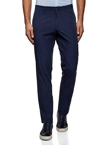 oodji Ultra Uomo Pantaloni Slim Leggeri, Blu, IT 48 / EU 44 (L)