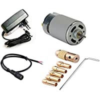 ERH India 12v 555 DC Motor 12000rpm High Speed with Drill Chuck Kit for DIY Project Kits RS-555 Multipurpose Brushed…