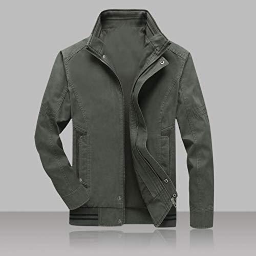 purchase cheap 606af 52b95 CLOOM Cappotto Uomo, Colore Solido Giubbotto Uomo, Giubbotto UomoGiacca di  Moda Abbigliamento Uomo in Poliestere, Tuta da Lavoro Uomo Cappotto Corto  ...