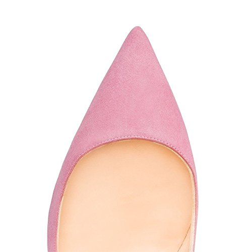 MERUMOTE , Chaussures à talon fin femme Pink-Suede