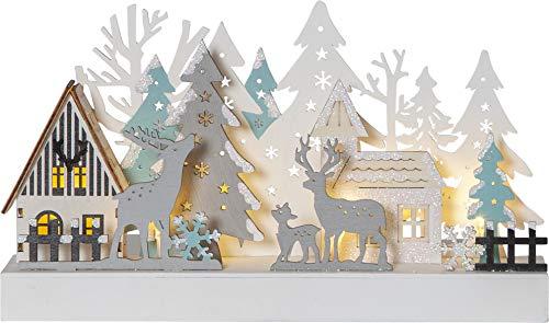 Star Weihnachtsdekoration, Holz, Multi/Transparent