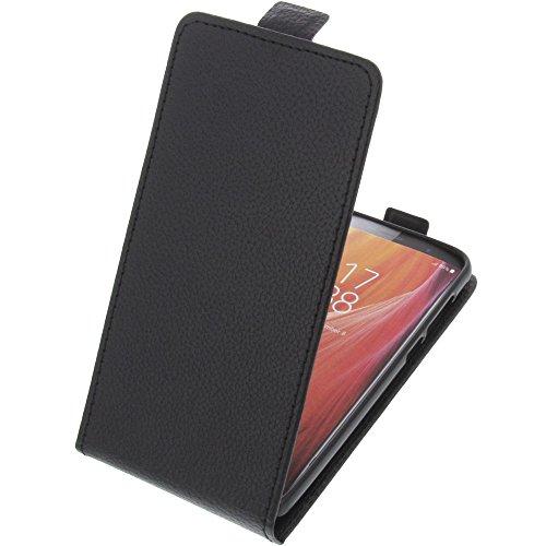 foto-kontor Tasche für HomTom S7 Smartphone Flipstyle Schutz Hülle schwarz