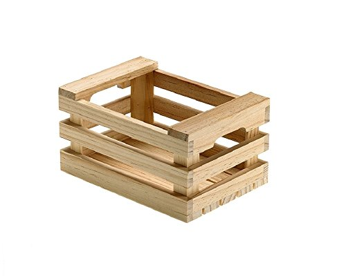 Irpot - 2 cassettine della frutta legno naturale (s0204 cm.17x12x9h)