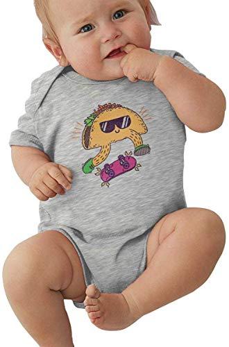 WlQshop Unisex-Baby Kurzarm Body, Baby Boys Girls Unisex Romper Bodysuit Taco Skateboard Infant Lovely Jumpsuit Outfit 0-2T Kids