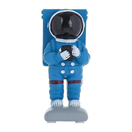 SUPVOX Kreativer Harz-Telefon-Halter-Raum-Astronauten-Form-dekorativer Desktop-Handy-Stand-beweglicher Smartphone-Halter (D2-2-3xy9008 gemischtes Astronautenmuster) - Dekorative Formen