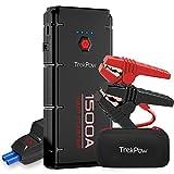 TrekPow G22 Booster Batterie - 1500A Portable Jump Starter, Démarrage de Voiture (Jusqu'à 8L Essence 6,5L Gazole), 4 Ports de Charge, Pinces avec Écran, Lampe LED, Shell Résistant au Feu, CE Certifié