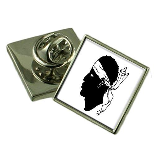 Korsika-box (Select Gifts Korsika Anstecknadel Abzeichen graviert personalisierten Box)