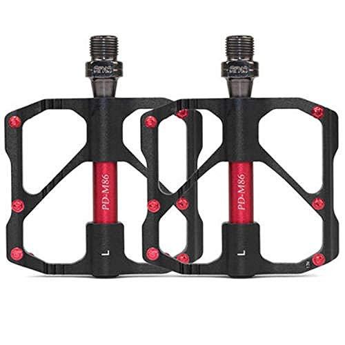 Bike Pedal CNC für BikingBicycle Ball Pedal ultraleichte Aluminiumlegierung Mountainbike Tretlager Ausrüstung Ersatzteile rutschfest staubdicht Fußschmierung Fuß rot, weiß -