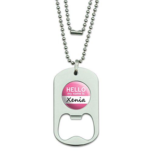 Xenia Hello My Name Is Dog Tag Flaschenöffner