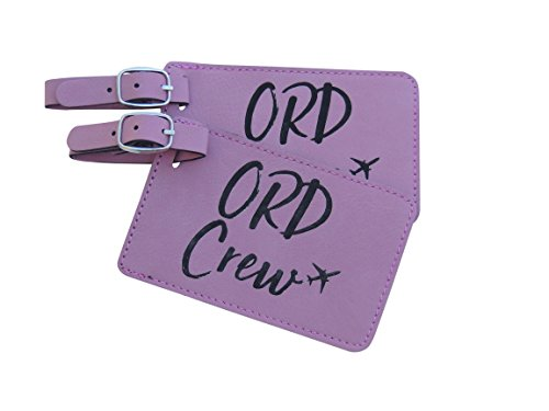 Chicago Crew Base Bag Tags für Flugbegleiter, United Airlines, American Airlines, - Bag Adidas Airline