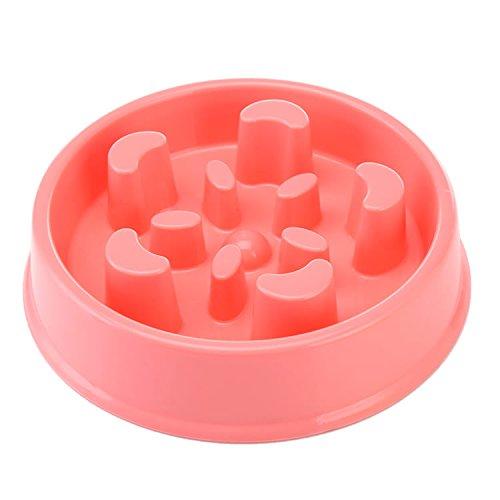 Slow Eating Pet Bowl Three Musketeer Dog Feeder Healthy Design Bowl For Cat Dog Pet (pink) (Feeder-schalen Dog)
