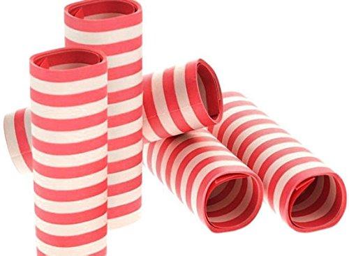 mmschutzmittel Serpentines im Set, Papier, Rot/Weiß, 400x 18x 30cm (Rot Und Weiß-party Dekorationen)