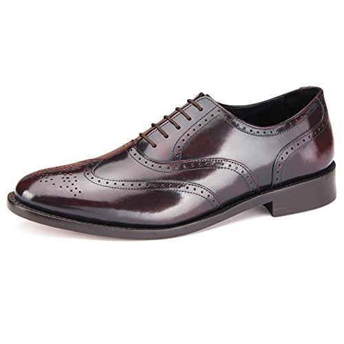 Classic Cheltenham Brogue, Oxblood, Handcrafted Shoe Goodyear Welted & Polished. Sizes 5 to Wide 14