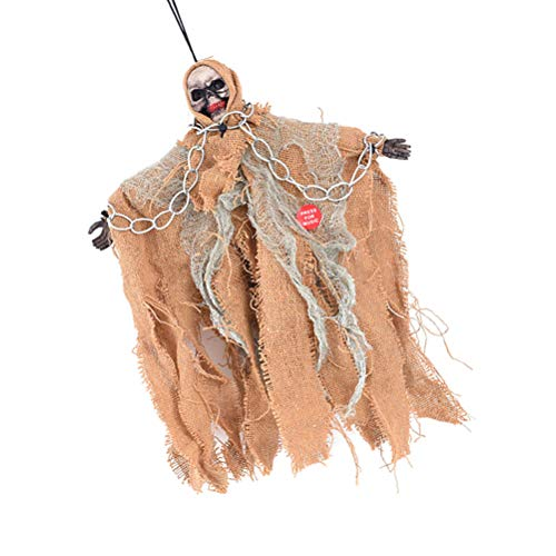 BESPORTBLE Halloween Hanging Ghost Props Scary gruselig Skelett animierte Dekoration Indoor Outdoor hängenden Puppen Dekoration