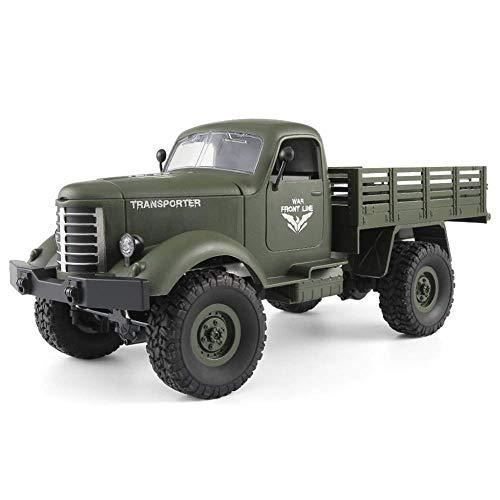 Pkjskh Telecomando Fuoristrada regalo di Natale a quattro ruote motrici Simulation Model Climbing Car Truck Boy Toy Car (Color : Verde)