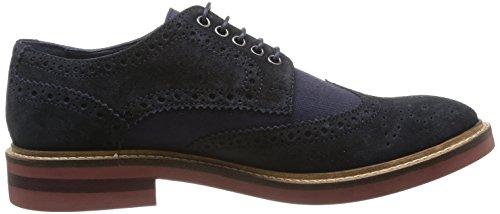 Base London Woburn, Chaussures de ville homme Bleu (Suede/Linen Navy)