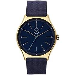 slim made one 10 - Extra flache Armbanduhr in gold / blau
