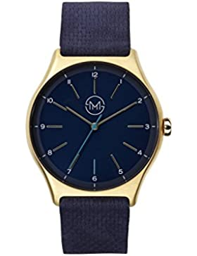 slim made one 10 - Extra flache Armbanduhr in gold / blau