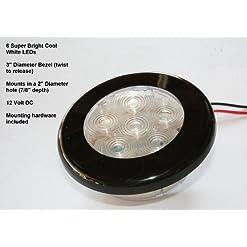 Mini Dome Light–Luce di cortesia convenienza–Luce bianca–Compact 7cm–12Volt, camion, auto, camper, aerei illuminazione