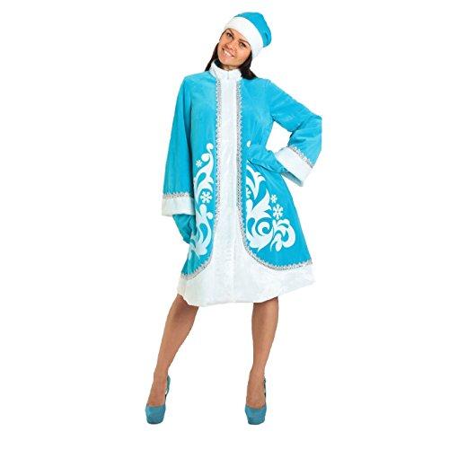 Kostüm 'Snegurotschka' (Schneemädchen) Türkis, Größe (Kostüm Russische Ideen)