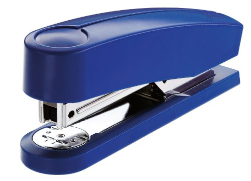 Novus B 2 Heftgerät (25 Blatt, Tacker aus Metall mit Kunststoffoberteil, inkl. 200 Tackerklammern) 1 Stück blau